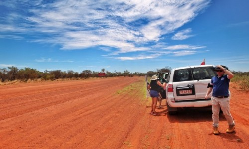 Zdjecie AUSTRALIA / NT / Ayers Rock / From Ayers Rock to Alice Springs via gravel road