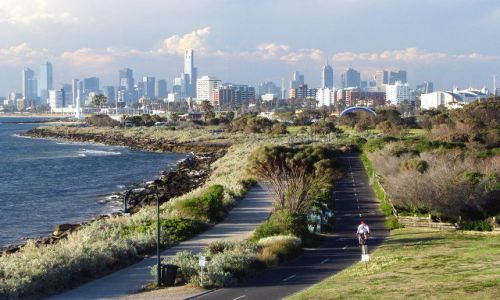 Zdjecie AUSTRALIA / Australia, Wiktoria / Melbourne, Elwood / Panorama Melbourne widziana z Elwood