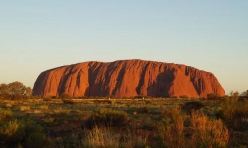 Zdjecie AUSTRALIA / Australia Środkowa / Uluru / O zachodzie słońca