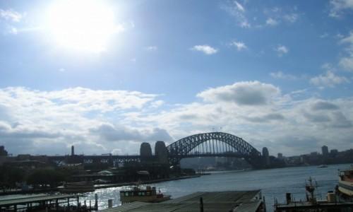 Zdjecie AUSTRALIA / Sydney / Centrum / Harbour bridge w nocy