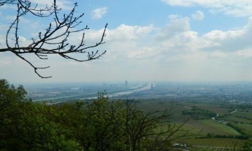 Zdjecie AUSTRIA / Wiedeń. / Wzgórze Kahlenberga 483 m.n.p.m. / Wiedeń ze Wzgórza Kahlenberga.