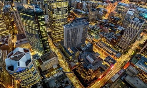 AUSTRALIA / New South Wales / Sydney / Swiatła wielkiego miasta
