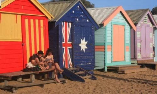 AUSTRALIA / Wiktoria / Melbourne / Kolorowo na Brighton Beach #2