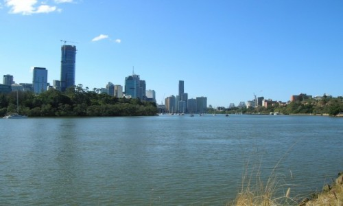AUSTRALIA / Qld / Brisbane river / Widok na Brisbane