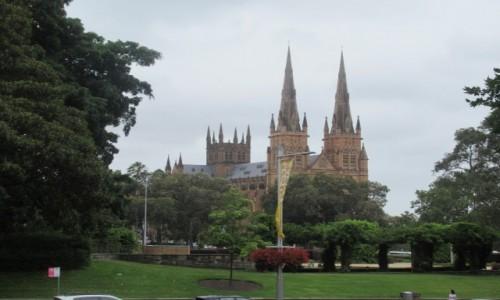 Zdjecie AUSTRALIA / New South Wales / Sydney / Katedra w Sydney