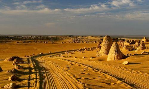 Zdjecie AUSTRALIA / brak / PN Pustyni Pinanacles / Droga przez pustynie
