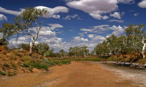 Zdjecie AUSTRALIA / Outback / ok. Cobra Station / Rzaka bez wody