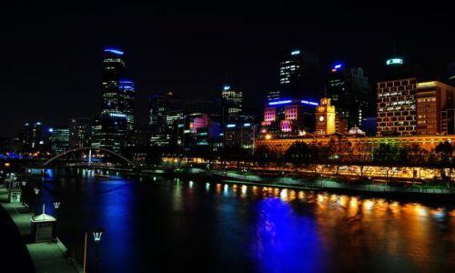 Zdjecie AUSTRALIA / melbourne / melbourne noc / noc
