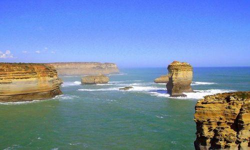 Zdjecie AUSTRALIA / południowa Australia / Great ocean Road / niezwykłe formacje skalne