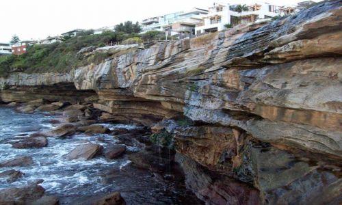 Zdjecie AUSTRALIA / NSW / Coogee / Formacje skalne w Coogee