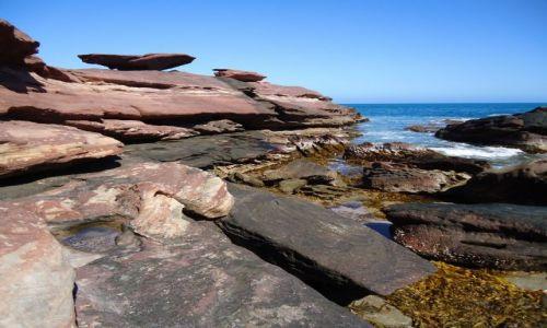 Zdjęcie AUSTRALIA / Australia Zachodnia / Red Bluff / Barwy piaskowców