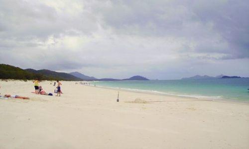 Zdjecie AUSTRALIA / południowo -wschodnia Australia / Whitsunday Islands / na Whitheaven Beach-