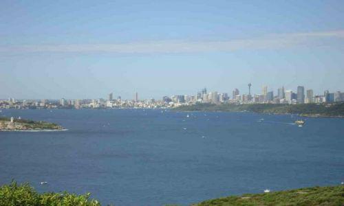 AUSTRALIA / Sydney / Manly / Widok na Sydney z North Head