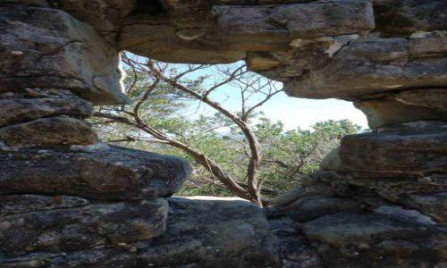AUSTRALIA / Sydney / Manly / Shelly Beach Park dziura w murze:)