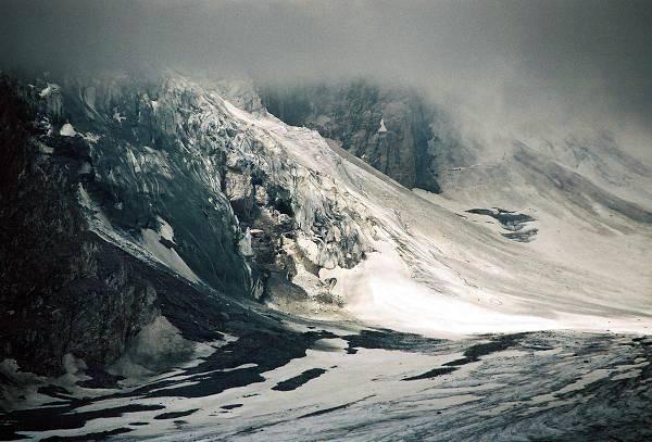 Zdjęcia: Lodowiec Pasterze, Karyntia, Tyrol Wschodni, Osuwisko przy lodowcu, AUSTRIA