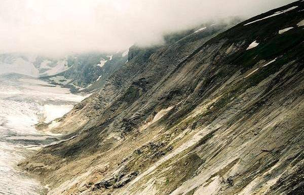 Zdjęcia: Lodowiec Pasterze, Karyntia, Tyrol Wschodni, Zbocze lodowca, AUSTRIA