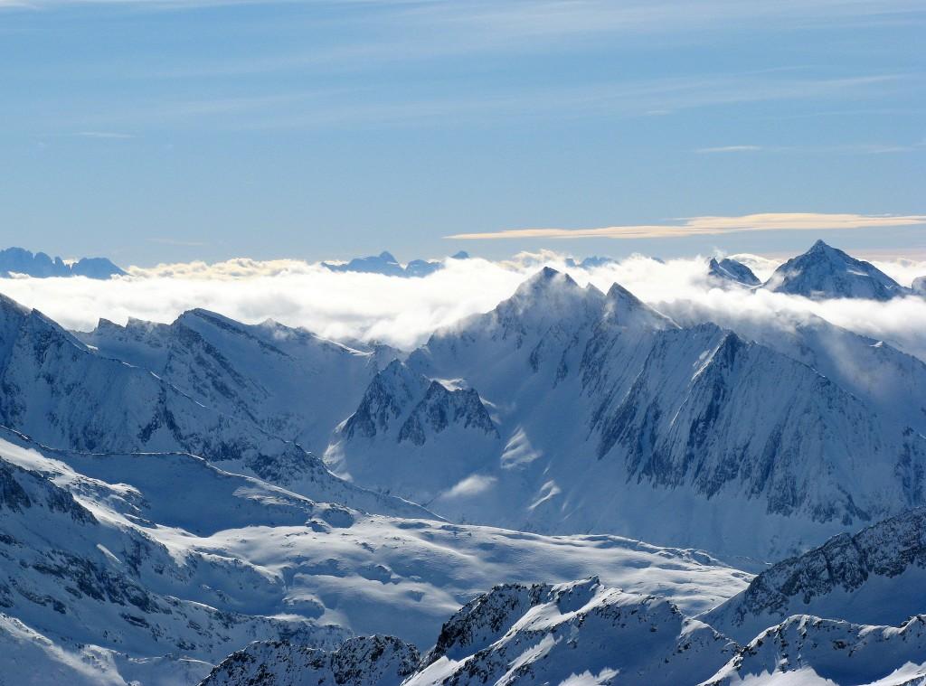 Zdjęcia: Hintertux, Tuxer, Widok z lodowca, AUSTRIA