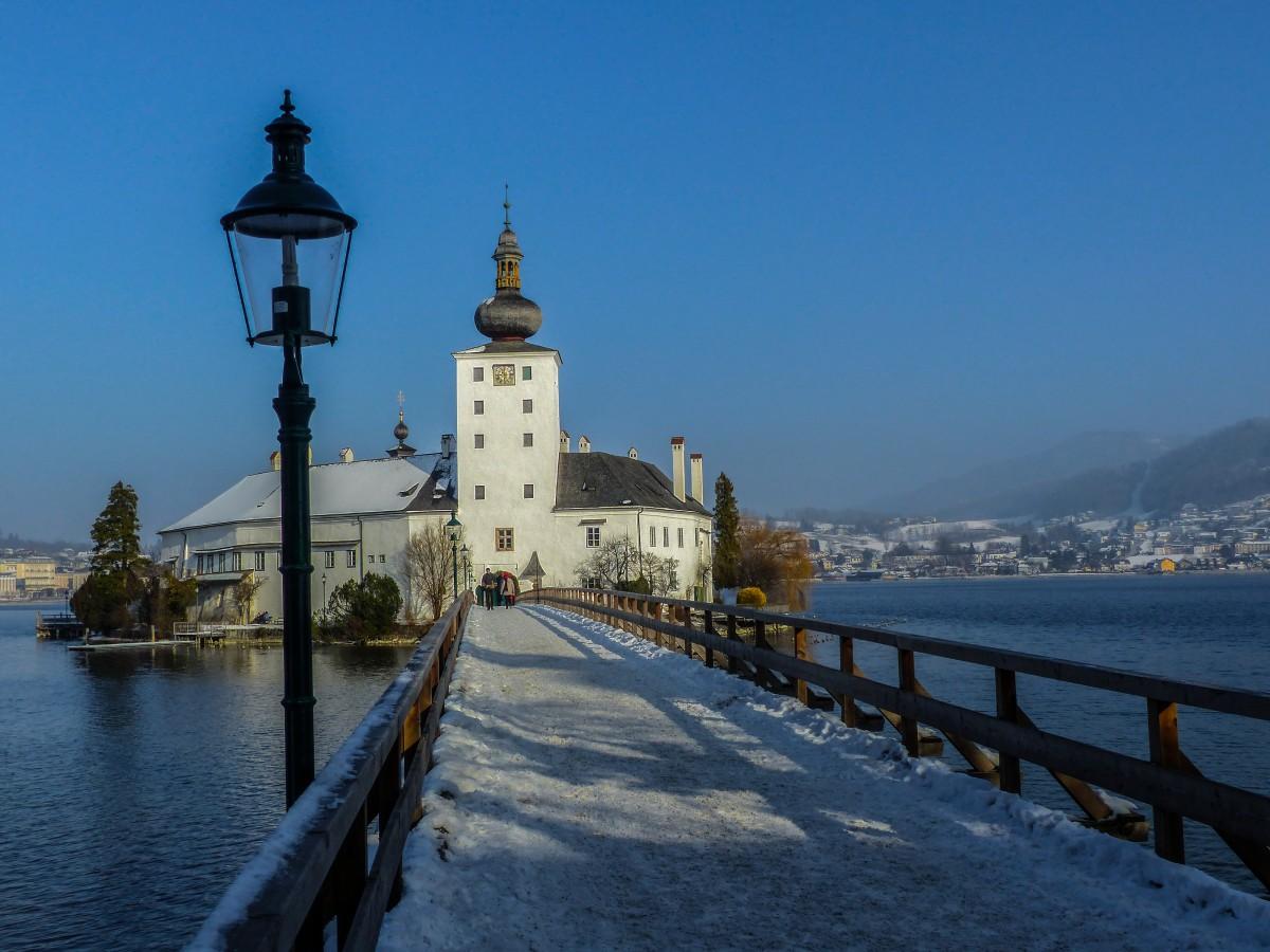 Zdjęcia: Gmunden, Alpy Salzburskie, Zamek Ort , AUSTRIA