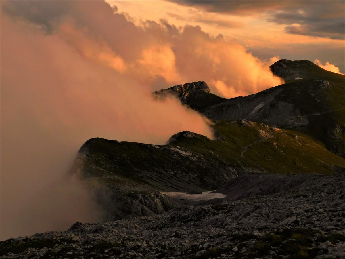 Zdjęcia: hochschwab, alpy, słońce chmury zachód, AUSTRIA