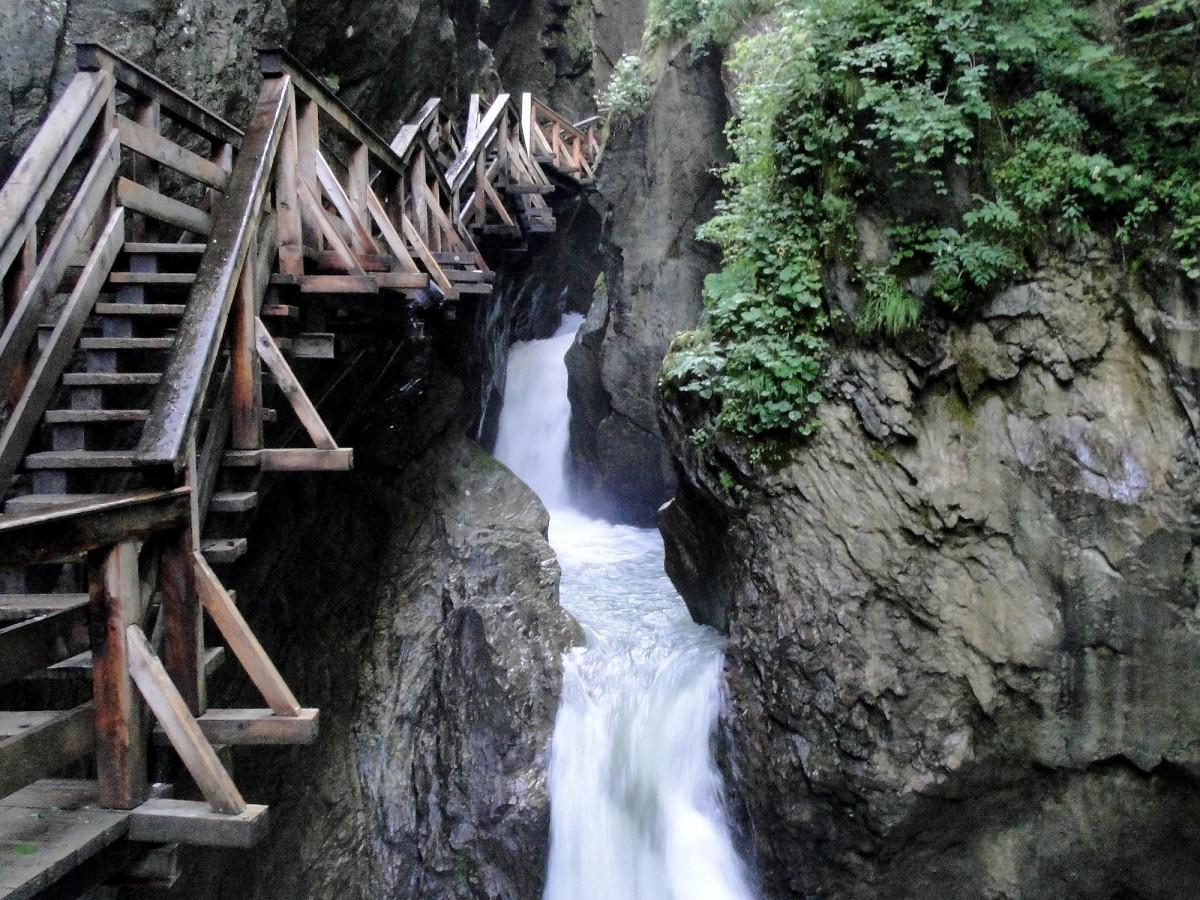 Zdjęcia: Wąwóz Sigmund Thun Klamm, Kraj Salzburski, Lato w Alpach, AUSTRIA