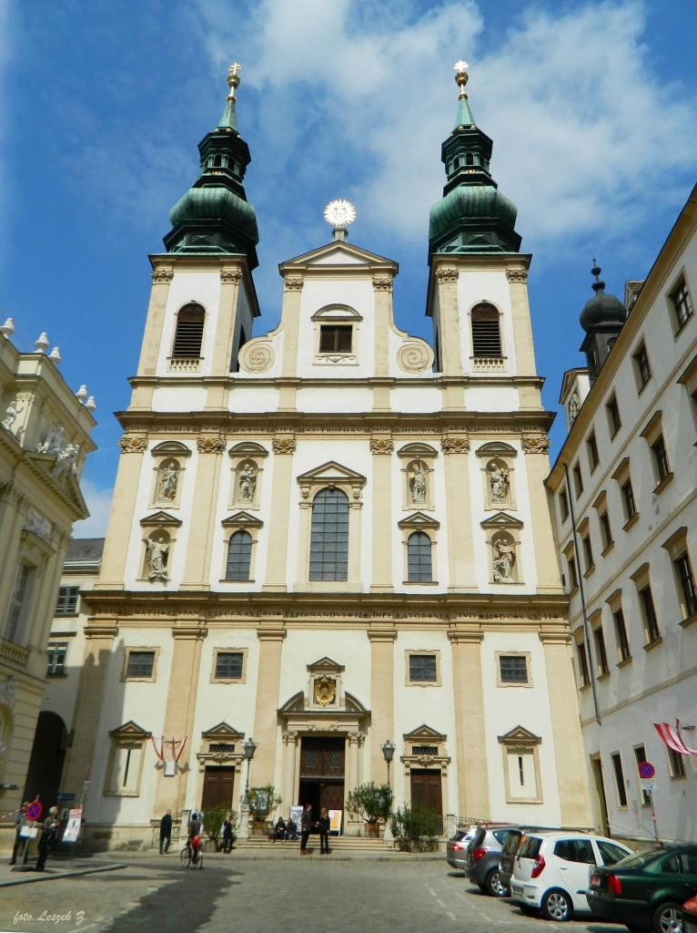 Zdjęcia: Wiedeń., Wiedeń., Wiedeń - Barokowy kościół Jezuitów., AUSTRIA
