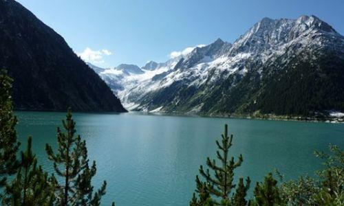 Zdjecie AUSTRIA / Zillertaler Alpen / Zapora wodna na wysokosci 1780 m / Alpy -widoki