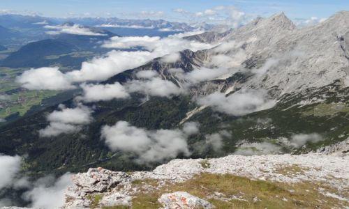 AUSTRIA / - / alpy / ponad chmurami