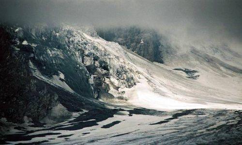 Zdjecie AUSTRIA / Karyntia, Tyrol Wschodni / Lodowiec Pasterze / Osuwisko przy lodowcu