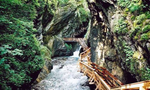 Zdjęcie AUSTRIA / Salzburger Land / Kaprun  -  Sigmund-Thun Klamm / Mokry szlak
