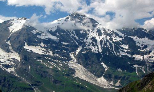 Zdjęcie AUSTRIA / Karyntia, Tyrol wschodni / droga do Lodowiec Pasterze / Szczyty widziane po drodze