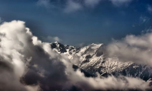 Zdjęcie AUSTRIA / Salzburg / Zell am See / Alpy w chmurach   Konkurs