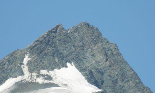 Zdjecie AUSTRIA / Tirol / droga alpejska nr 107 / widok na szczyt  Grossglockner
