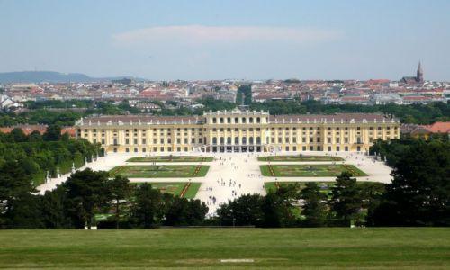 Zdjęcie AUSTRIA / Wiedeń / Schönbrunn / Widok na Schönbrunn