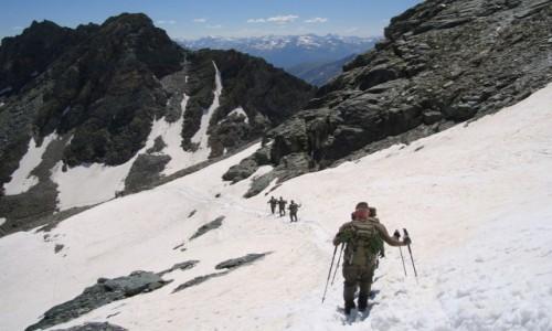 Zdjęcie AUSTRIA / Alpy Centralne / Taury Wysokie / Wojsko na szlaku!
