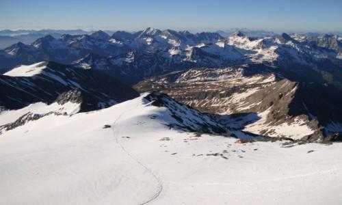 Zdjęcie AUSTRIA / Alpy Centralne / Taury Wysokie / Namiocik.