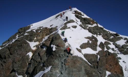 Zdjęcie AUSTRIA / Alpy Centralne / Taury Wysokie / Szczyt Grossglockner.