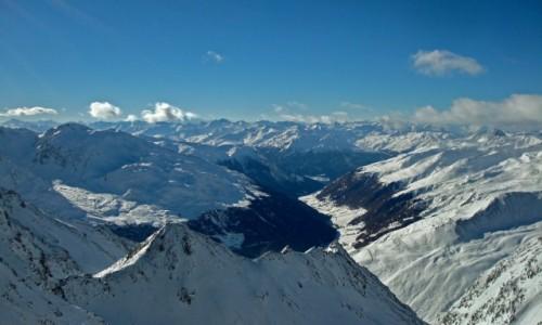 Zdjecie AUSTRIA / Tyrol / lodowiec Kaunertal /  widok z Karles