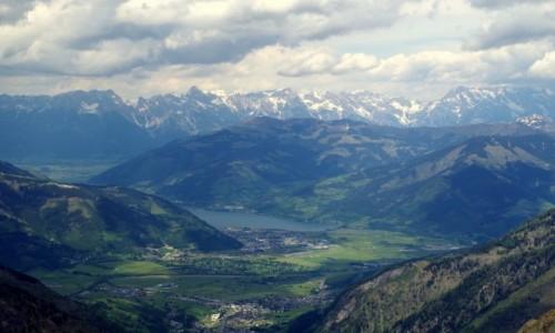 Zdjecie AUSTRIA / kraj związkowy Salzburg / Kaprun / - widok na dolinę-