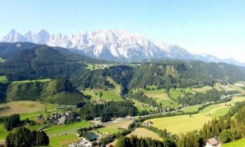 Zdjęcie AUSTRIA / Kraj związkowy Styria / Schladming / Widok na góry i dolinę