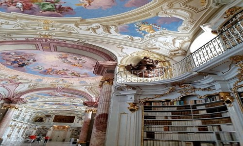Zdjęcie AUSTRIA / kraj związkowy Styria / Admont / Biblioteka, zbiory największe na świecie
