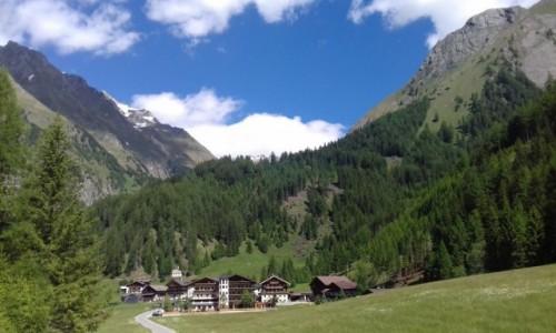 AUSTRIA / Tyrol / wieś pod Dorfertal / wejście do Dorfertal