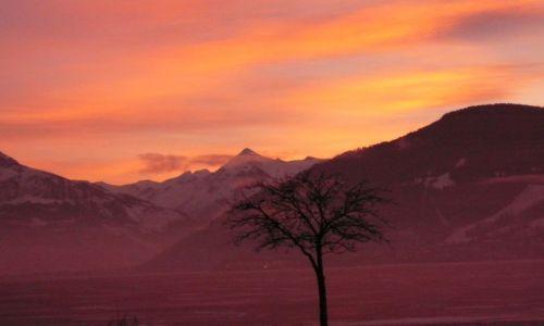 Zdjecie AUSTRIA / zell am see / zell am see / niebanalny zachód słońca