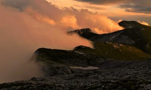 AUSTRIA / alpy / hochschwab / słońce chmury zachód