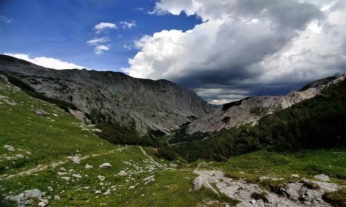 AUSTRIA / alpy / hochschwab / w drodze na szczyt góry
