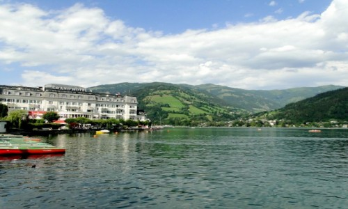 Zdjecie AUSTRIA / Kraj Salzburski / Zell am See / Nad jeziorem Zeller.