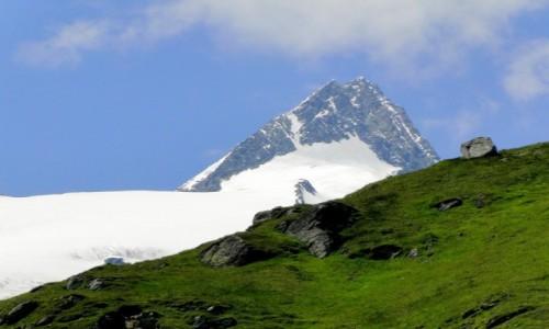 AUSTRIA / Kraj Salzburski / Park Narodowy Wysokie Taury / Spojrzenie na Grossglockner