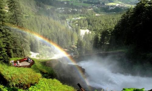 Zdjecie AUSTRIA / Kraj Salzburski / wodospady Krimml / Tęczą otuleni...