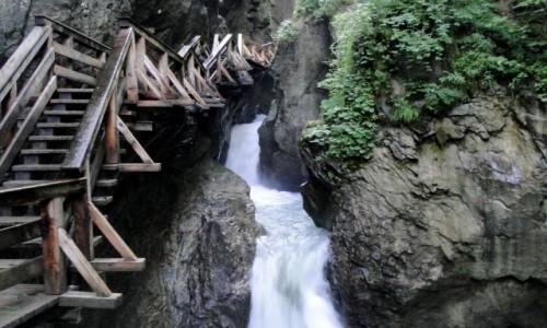 AUSTRIA / Kraj Salzburski / Wąwóz Sigmund Thun Klamm / Lato w Alpach