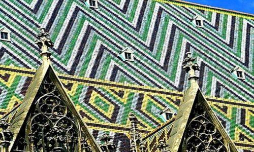 Zdjecie AUSTRIA / Wiedeń / starówka / Dach też może być piękny :)  Katedra Świętego Szczepana Męczennika