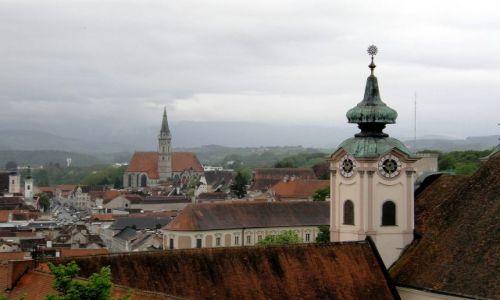 Zdjecie AUSTRIA / Górna Austria / Steyr / Wieża kościoła św. Michała Archanioła